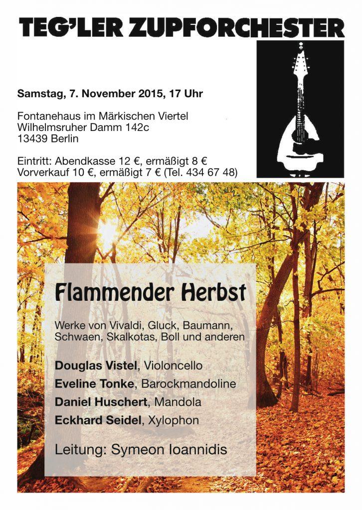 """Konzertflyer """"Flammender Herbst"""""""