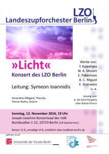 LZO Konzertflyer »Licht«